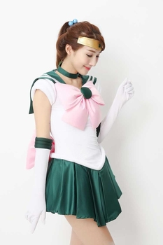 2020 New Anime Sailor Moon Cosplay Costume Sailor Jupiter Costumes Carnival Halloween Costumes for Women/Kids Custom Any Size 2