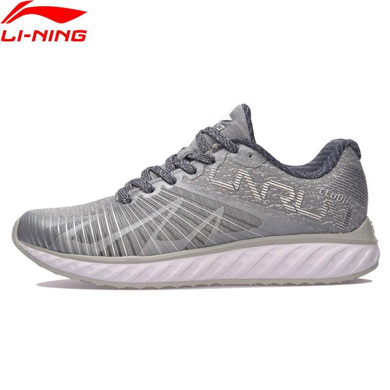 (Clearance)Li-Ning Women LN CLOUD IV 'FLAME' Running Shoes Mono Yarn Sneakers LiNing Wearable Sport Shoes ARHM068 XYP590