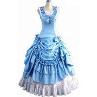 Костюмы на Хэллоуин для Для женщин для взрослых Southern викторианской платье бальное платье Готическая Лолита платье плюс Размеры Индивидуал