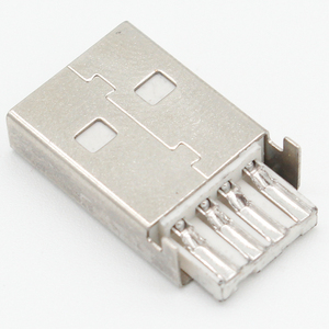 10 комплектов, коннектор USB 2,0 типа A, 4-контактный разъем в сборе, адаптер, припой, черный пластиковый корпус для соединения данных