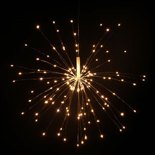 hot deal buy 80led hanging starburst fairy lights battery led fireworks copper wire string lights remote controlled christmas lights outdoor