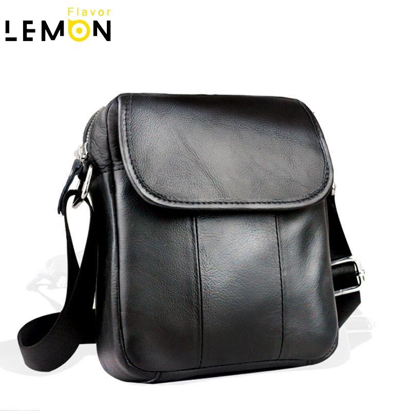 2017 New Brand Genuine Leather Men Shoulder Bag Brand Crossbody Handbags Vintage Men Messenger Bags Cowhide Men Travel Bag A2030