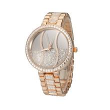 G & D quicksand relojes mujeres moda Casual completo inoxidable reloj de pulsera Impermeable reloj reloj de oro de lujo de Negocios