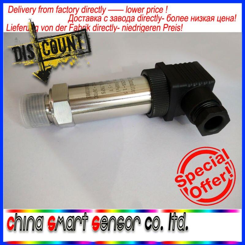 Water Pressure Sensor Diffused Silicon Pressure Transducer Transmitter 4-20MA 0.6MPA 1MPA 1.6mpa 0 0 16 60mpa intelligent led display silicon pressure transmitter pressure transducer g1 4 4 20ma output