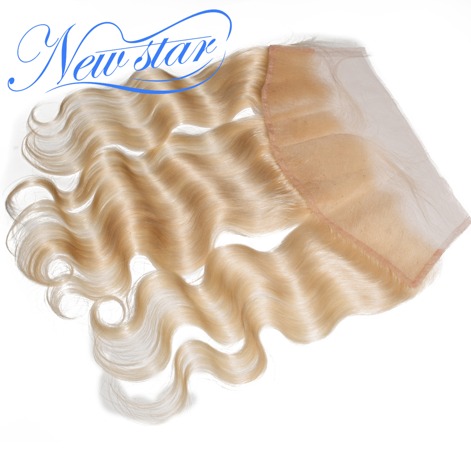 Brazilian Blonde #613 Body Wave 13''x4'' Lace Frontal Closure 100%Human Remy Hair Pre-Plucked Hairline New Star Hair Products