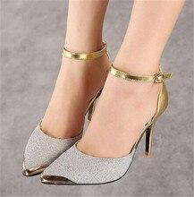 2016 handgemachte exy High Heels Sandalen Hochzeit Schuhe Dünne Ferse Brautschuhe Damen High Heels brautjungfer Schuhe Frauen Pumpen