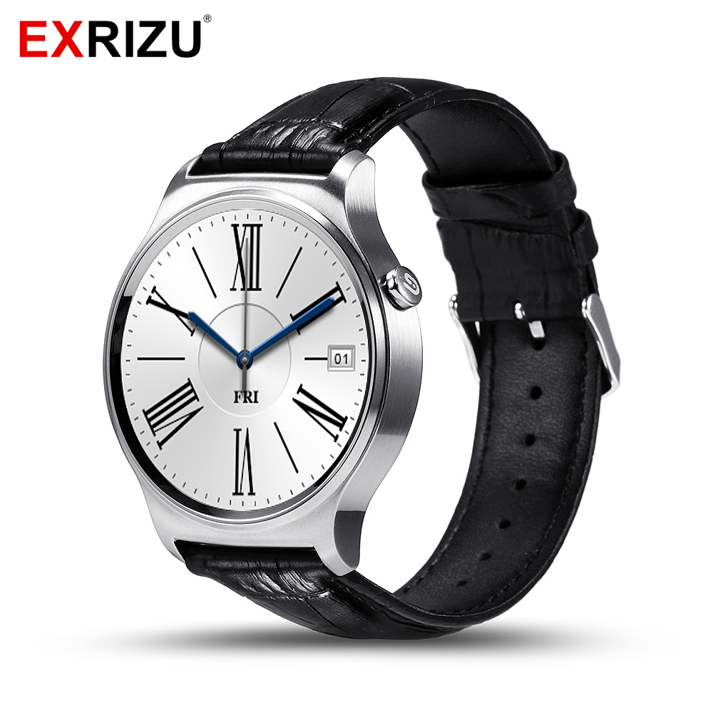 EXRIZU GW01 Business Bluetooth Smart Watch IPS Round Screen Life Waterproof Sport Heart Rate Watch Smartwatch for Android iOS smart sm407 01 c35