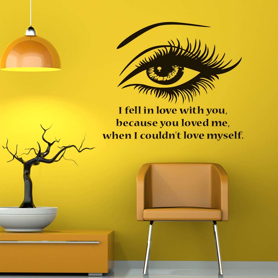 Eye wall stickers images home wall decoration ideas i fell in love with you beautiful eye wall stickers vinyl i fell in love with amipublicfo Images