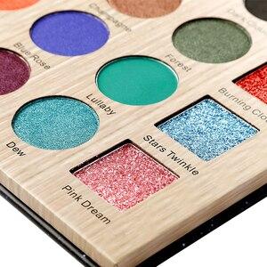 Image 5 - DELANCI Nocturne Eyeshadow Pallete Chuyên Nghiệp 25 Màu Sắc Make up Palette Matte Ánh Sáng Lung Linh Long Lanh Sắc Tố Bóng Mắt Dạng Bột