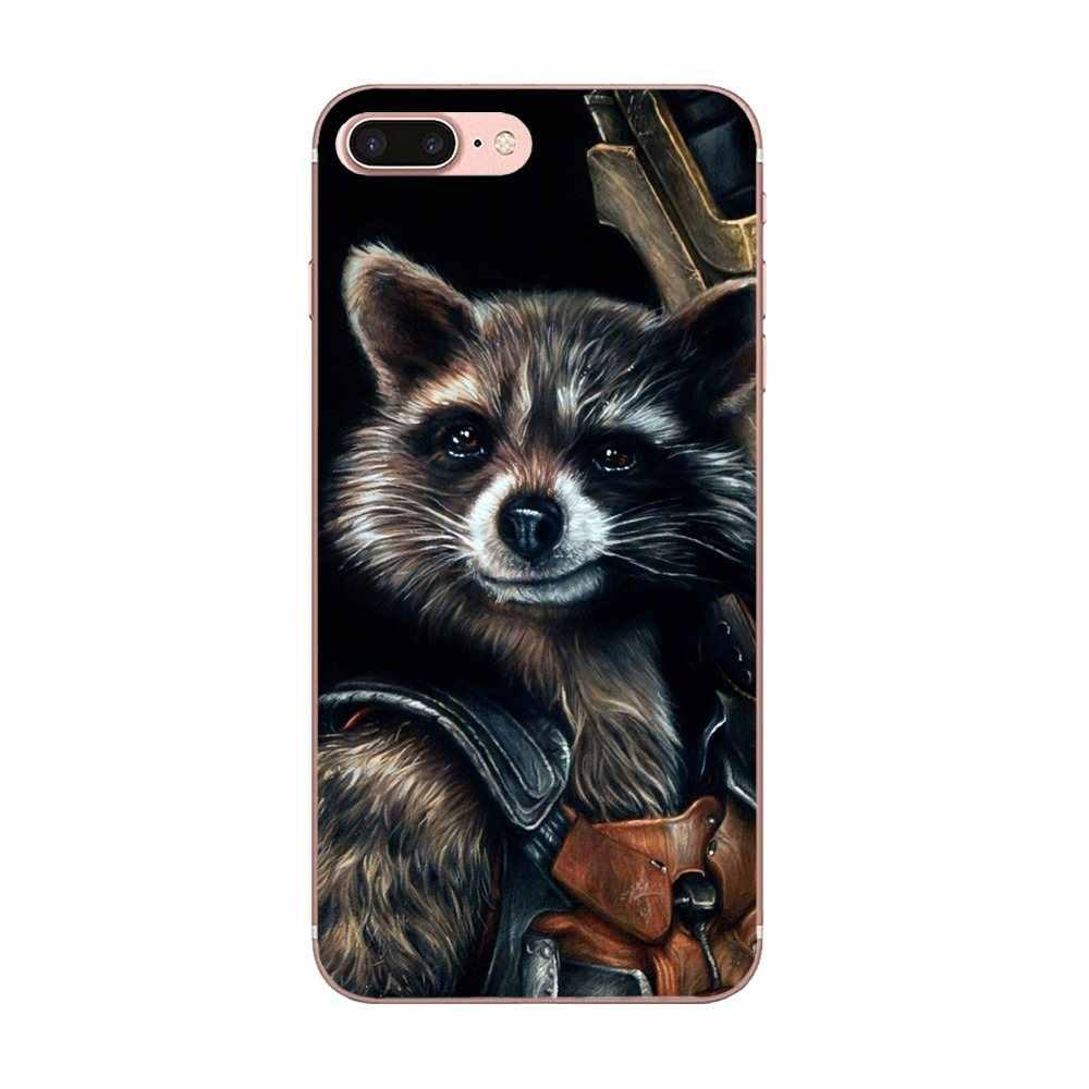 Raccoon Art Print Dominant For Apple iPhone X XS Max XR 4 4S 5 5C 5S SE 6 6S 7 8 Plus Skin Thin Pc Cell Case