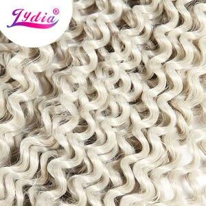 "Image 3 - Lydia Freetress Synthetic Silvergray 28"" 3Pieces/lot Bohemian Crochet Braid Hair Extensions Latch Hook Braiding Hair Bulk"