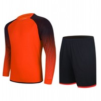 Autumn Winter Long Sleeve Soccer Jersey Shorts Football Training Suit Football Tracksuit Soccer Set Running Fitness