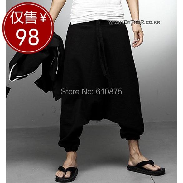 hot sale men's trousers personalized pants male harem pants casual pants culottes trousers