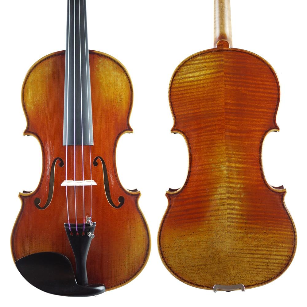 A Copy Of Guarneri Del Gesu 1737 Violin With Aubert Bridge,Great Set Up,Professional Workshop.No.2427. Top Handmade Oil Varnish handmade oil varnish european spruce no1554 antonio stradivarivotti1709 master violin powerful sound great setup