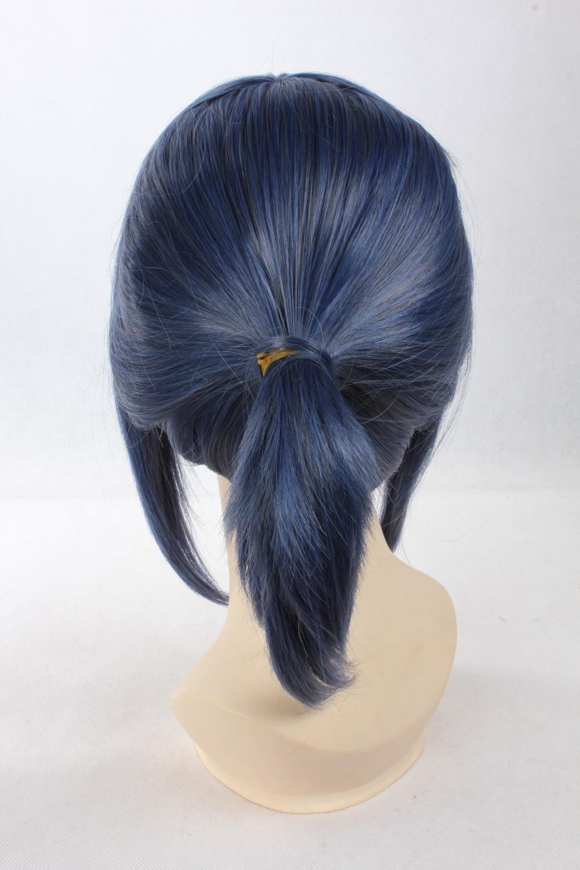 нет.6.МОУ, 255, серый синий слияние короткое хвост костюм партии парик косплей, потому аниме парик. бесплатная доставка