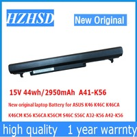 15 v 44wh/2950 mah A41 K56 nova bateria original do portátil para asus k46 k46c k46ca k46cm k56 k56ca k56cm s46c s56c A32 K56 A42 K56 Baterias p/ laptop     -