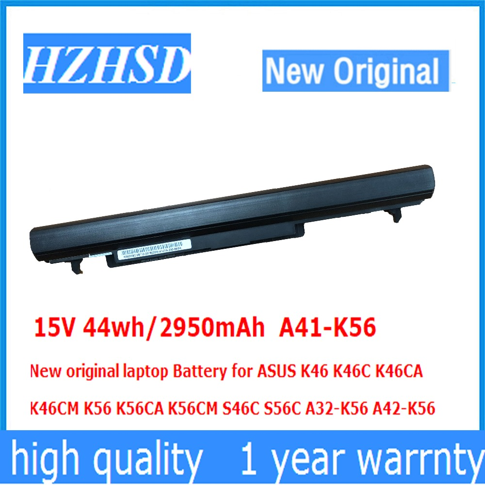 15V 44wh/2950mAh A41-K56 New original laptop Battery for ASUS K46 K46C K46CA K46CM K56 K56CA K56CM S46C S56C A32-K56 A42-K56
