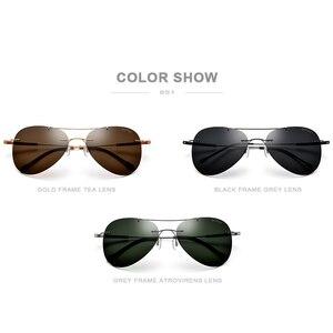 Image 5 - FONEX Titanium Alloy TR90 Rimless Sunglasses Men Ultralight Screwless Women Pilot Aviation Polarized Sun Glasses for Men 851