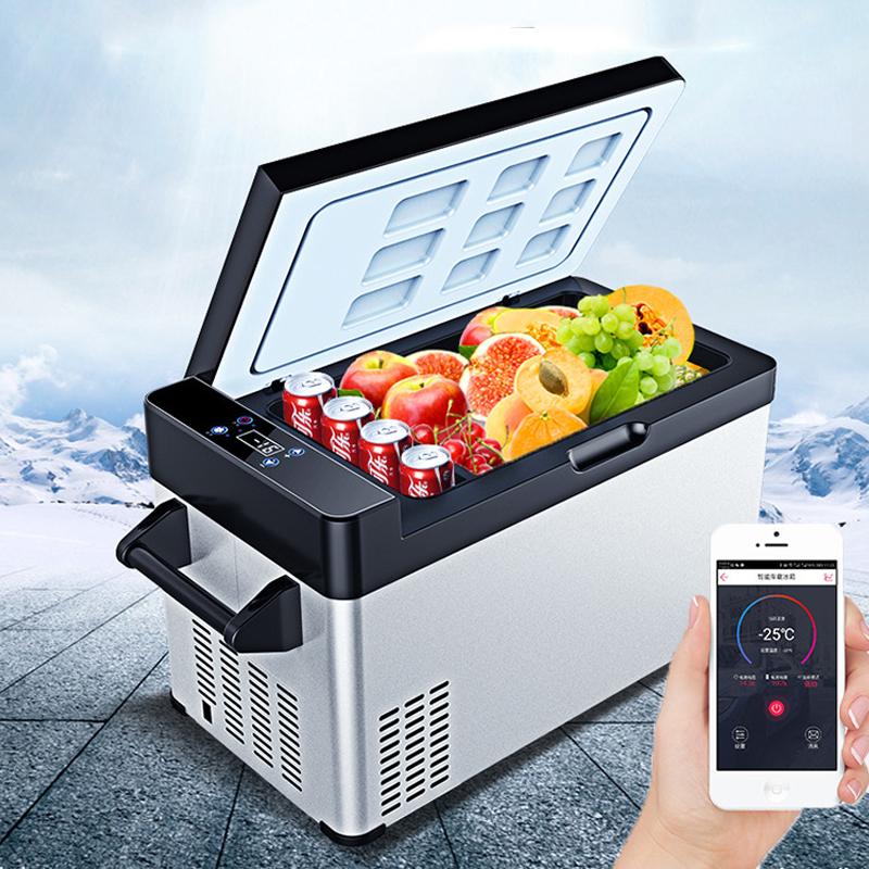 -25 Celsius 60L Mini Refrigerator Compressor APP Control Car Home Dual-use Small Portable Mini Fridge Camping Cooler Box Freezer