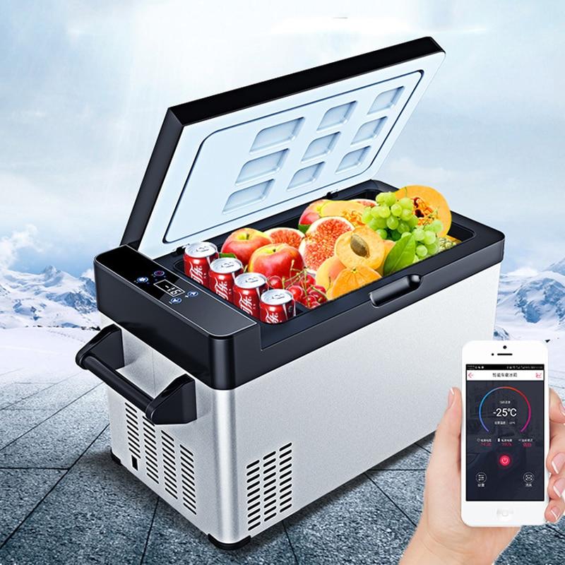 -25 Celsius 60L Mini Refrigerator Compressor APP Control Car Home Dual-use Small Portable Mini Fridge Camping Cooler Box Freezer