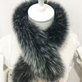 70*10 cm real fox fur collar scarf woman soft warm winter