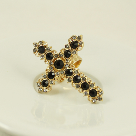 Ri027 Fashion Women Jewelry Punk Free Delivery Lovers Crosses Index Charm Retro Finger Rings ABC