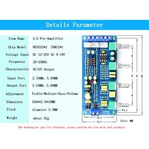 Image 3 - CIRMECH 2019 NE5532 OP AMP HIFI Amplificatore Preamplificatore Scheda di Controllo di Tono del Volume EQ kit Elettronico