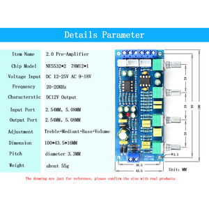Image 3 - CIRMECH 2019 NE5532 OP AMP HIFI Amplifier Preamplifier Volume Tone EQ Control Board Electronic kit