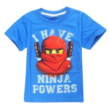 Summer Kids Boys T-shirt Ninja batman i have Ninjago power cute printed T Shirt Children Clothing Cotton Boys sport shirts black