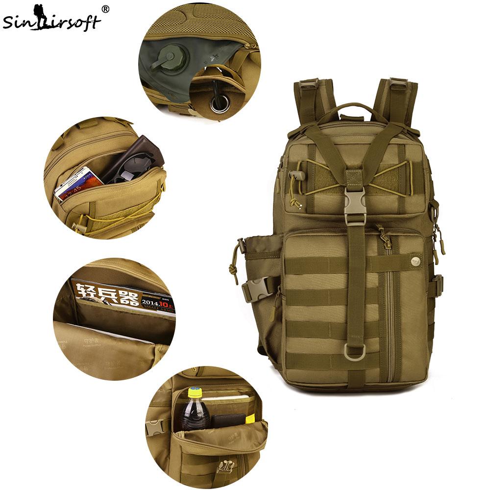 Sac à dos tactique extérieur 900D imperméable à l'eau armée épaule militaire chasse Camping multi-usages Molle randonnée voyage sac de Sport 30L - 4