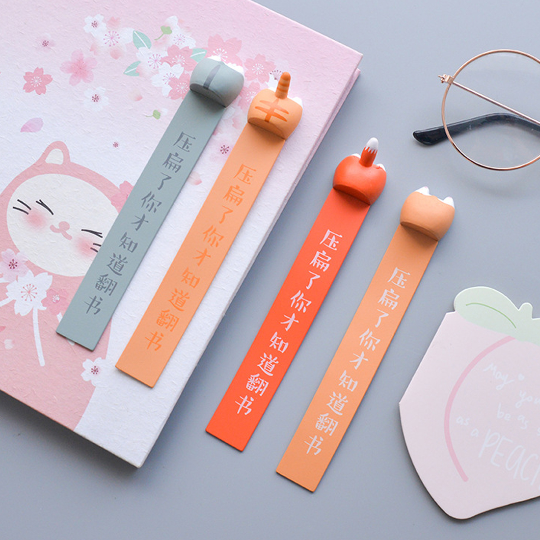 Cute Animal Ass Bookmarks Fox Corgi Cat Hamster Novelty Book Reading Item Creative Teacher Gift School Accessories