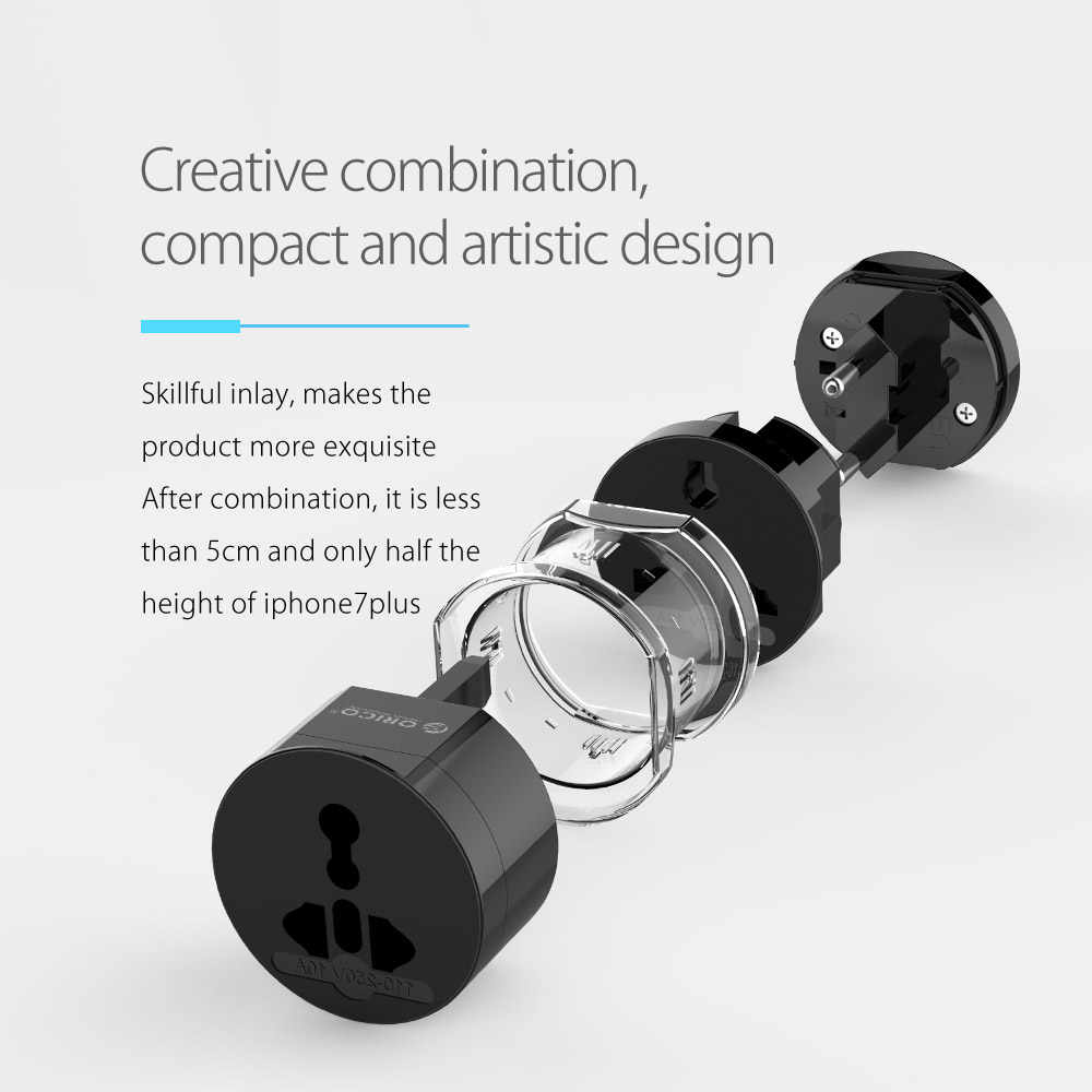 ORICO UTA 여행용 어댑터 전기 범용 어댑터 플러그 여행용 전원 소켓 변환기 콘센트 Smart Life 용 US/UK/EU/AU 플러그
