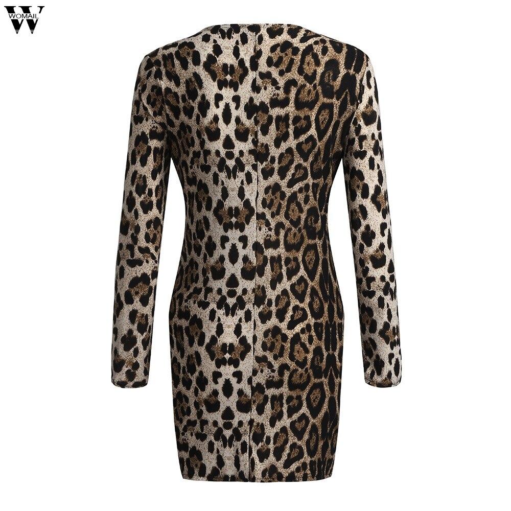HTB1cdHtX.jrK1RkHFNRq6ySvpXaN Women Sexy Long Sleeve Dress Winter Christmas Party Bodycon Dress Autumn Sexy Leopard Sling Sheath Mini Dresses   Nov27