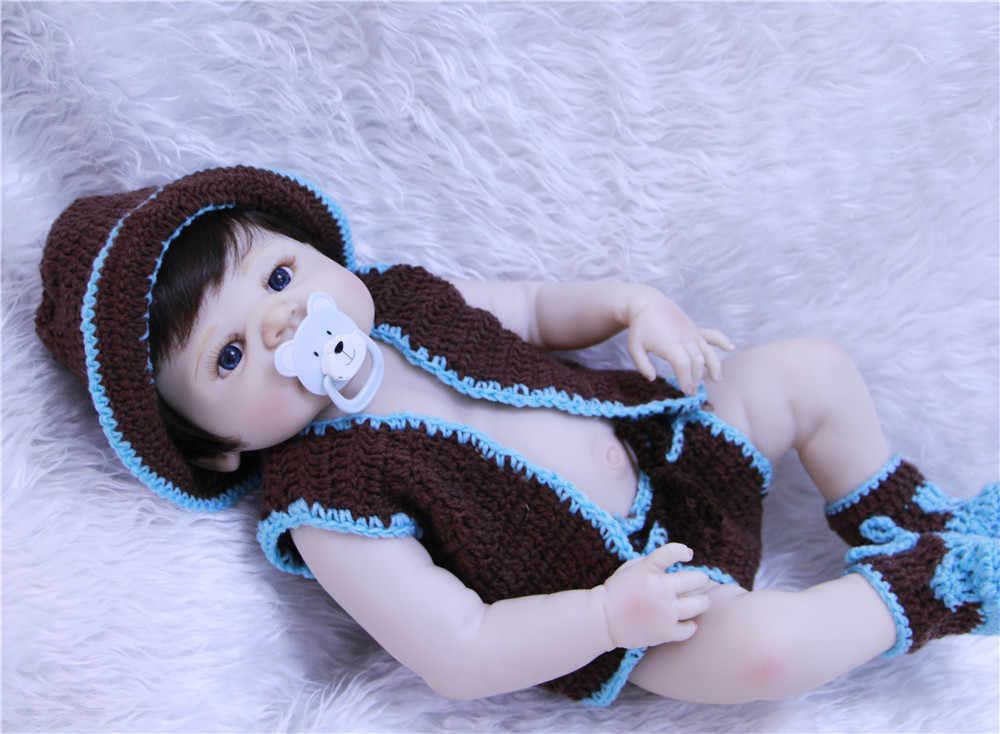 """NPK 23 """"Reborn dolls полное тело силикон reborn Интерактивная кукла-Пупс кукла поддельная ребенок мальчик bebes reborn menino bonecas Дети подарок"""