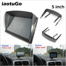 5-calowy GPS uniwersalna osłona przeciwsłoneczna Visor dla nawigacja samochodowa GPS pojazd navigator GPS akcesoria dla 5 #8222 nawigacja GPS tanie tanio iaotuGo Black Plastic