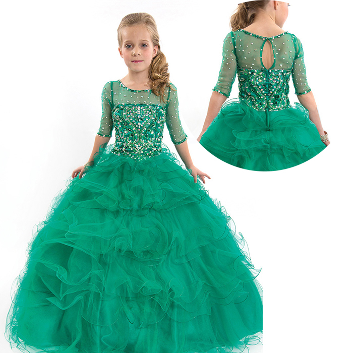 Kids Beauty Pageant Dresses For Junior Children Pageant Gowns ...