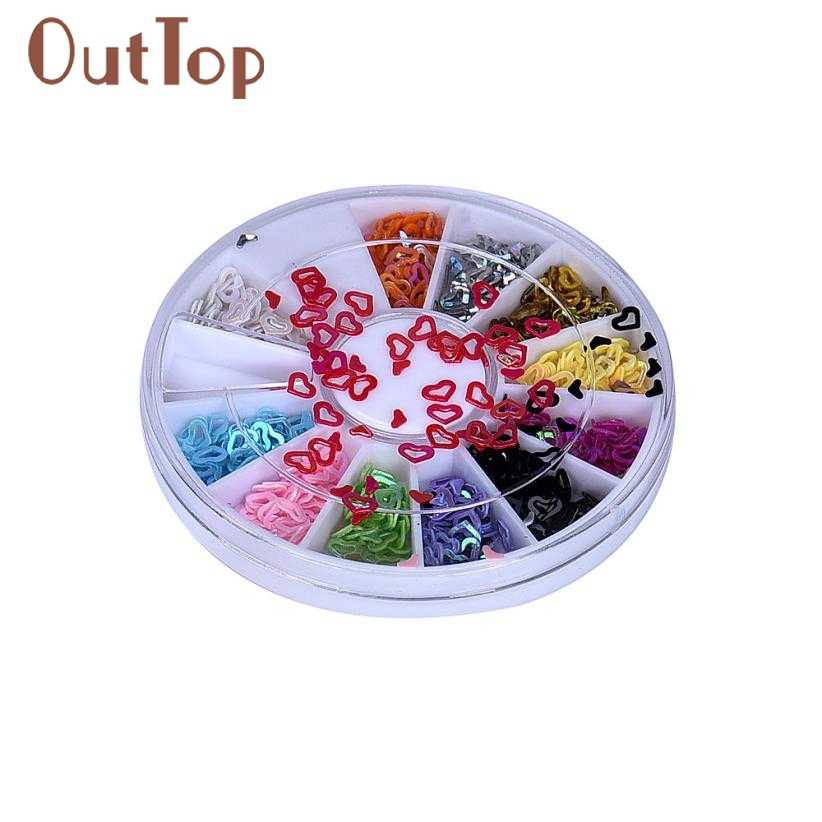 Venta al por mayor 3D acrílico Nail Art Tips Stud DIY decoración brillantina Rhinestones ruedas 22 Dropship