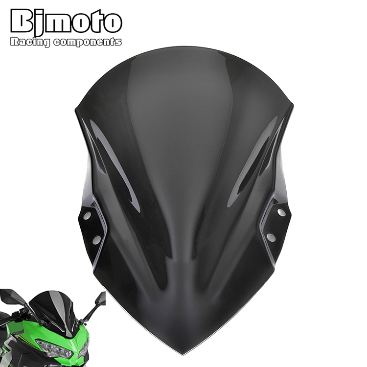 BJMOTO Accessories For Kawasaki <font><b>ninja</b></font> <font><b>400</b></font> ninja400 2018 2019 Motorcycle Windshield <font><b>Windscreen</b></font> Deflector Brackets Moto Parabrisas image