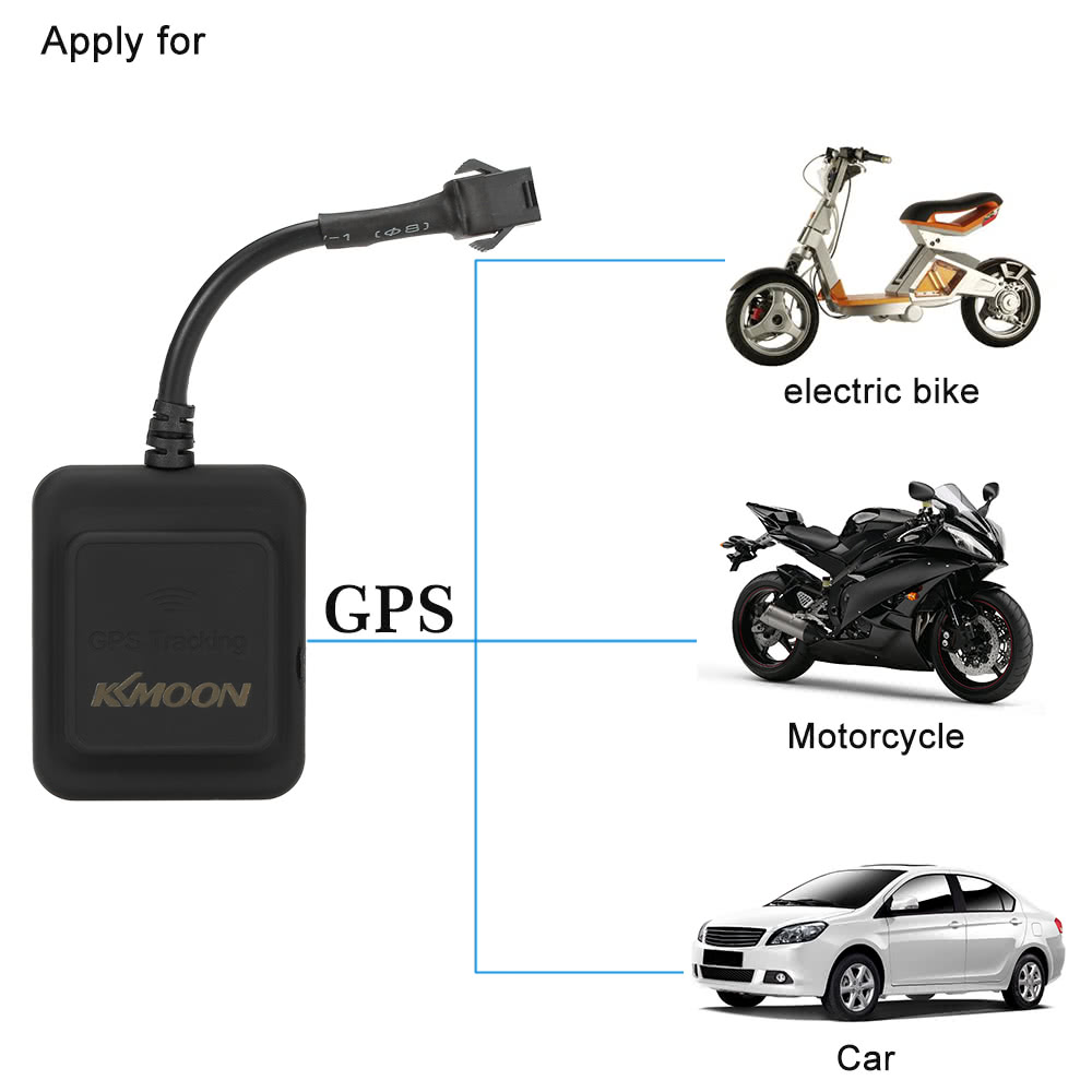 KKmoon GPS Real Time Tracker Car Motorcycle Electric Bike GSM GPRS Tracking Device 2G/3G/4G  Mini Portable Compact Design