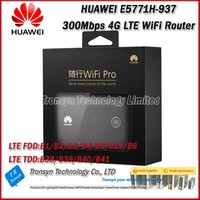 Wholesale One Lot 5PCS 300Mbps HUAWEI E5771H 937 4G LTE Power Bank WiFi Router With Sim Card Slot Support Worldwide