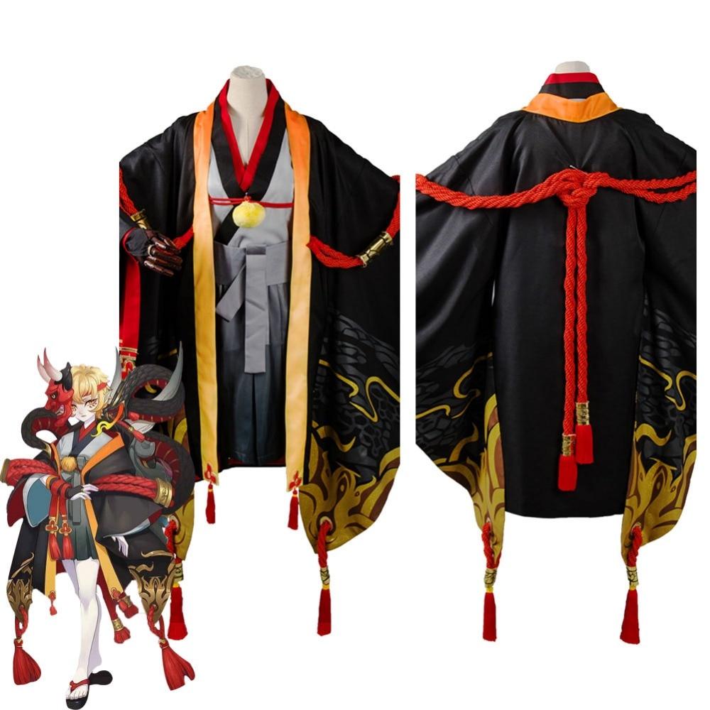 Yin Yang Master Onmyouji Prajna Cosplay Costume Outfit Kimono Suit