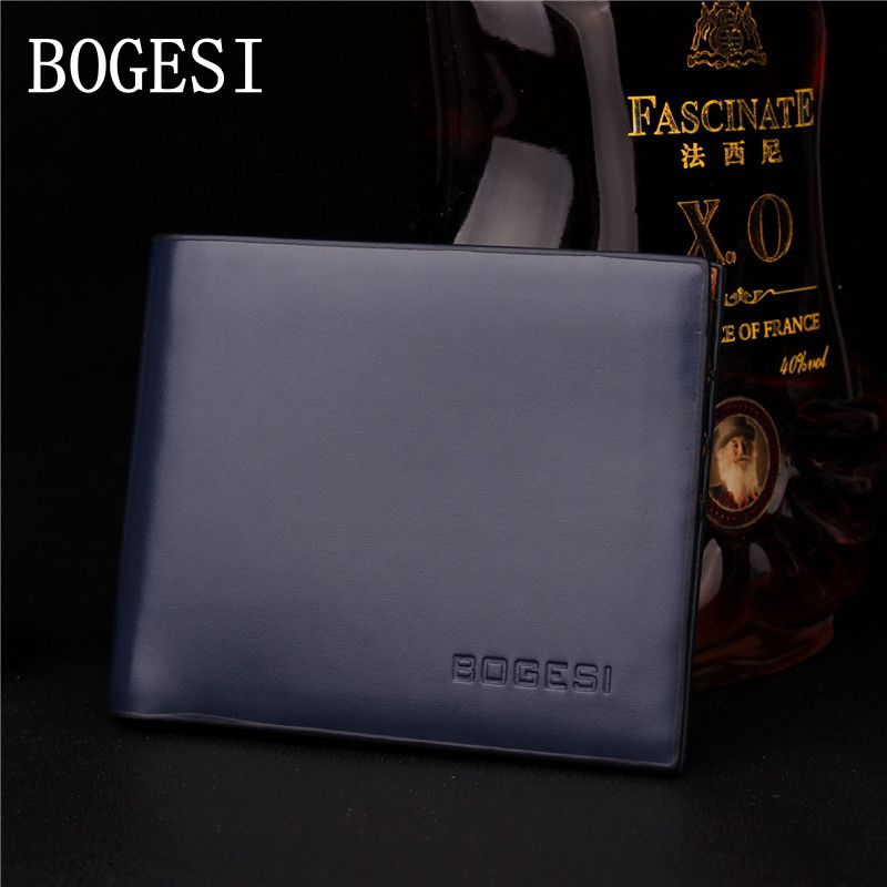 BOGESI Classic Business Solid Men's Wallet With Coin Pocket Short thin Men Wallets Luxury Brand Male Purse With Dollar Price цена и фото