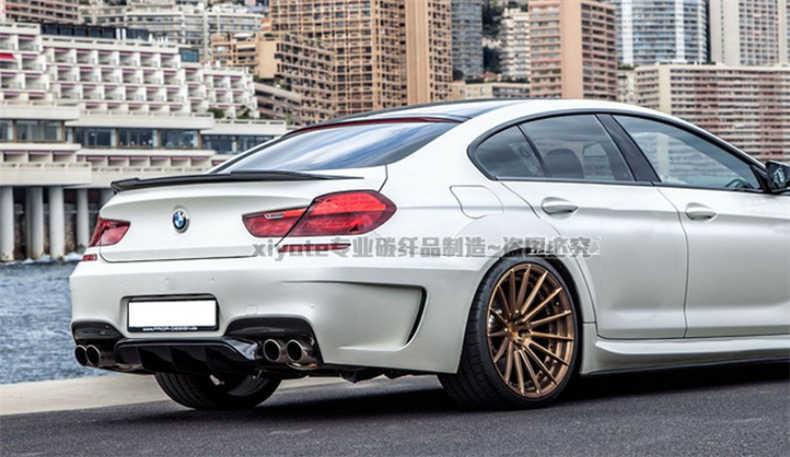 Alerón de fibra de carbono HLONGQT para BMW Serie 6 F06 M6 Gran Coupe 640i 650i 2011-2017, alerones de coche de alta calidad, accesorios para automóviles