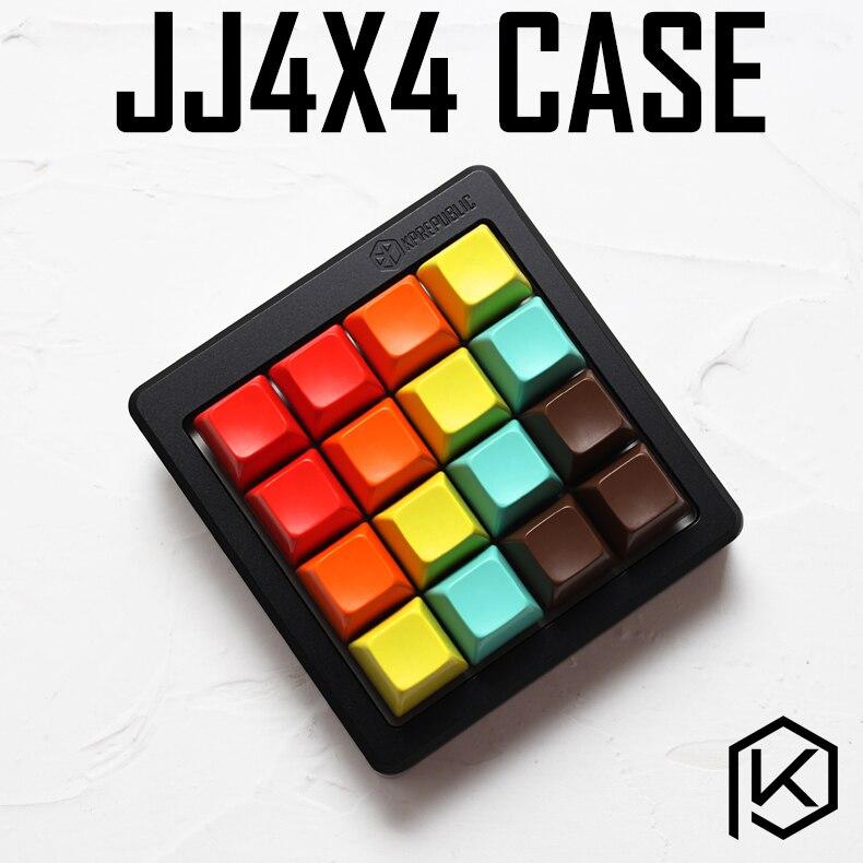 Anodized Aluminium Case For Jj4x4 Jj16 Jjcustom Keyboard Acrylic Panels Stalinite Diffuser Can Support Rotary Brace Support