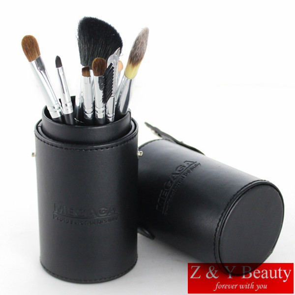 New Arrival Makeup Brushes professional Cosmetics brush Set 9pcs High Quality top Goat Hair and Sable Hair With black brush set 2016 new arrival black dual purpose eyelash assist device extension beauty supplies brow brush lash comb makeup brushes tools