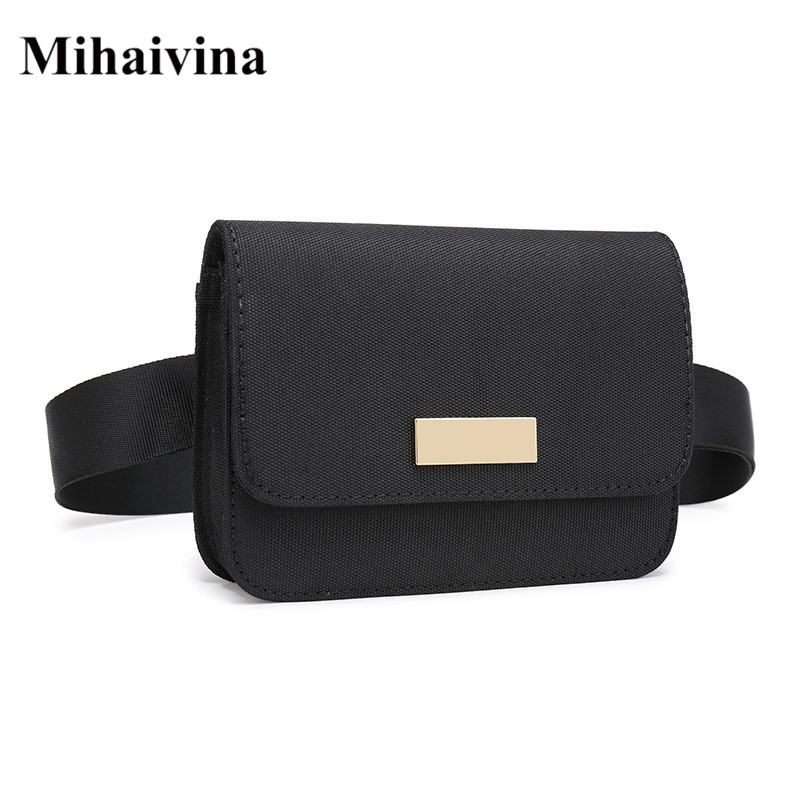 Mihaivina Oxford Waist Bag For Women Casual Functional Fanny Pack Money Phone Belt Bags Unisex Pouch Bum Hip Bag Men Snack Pack