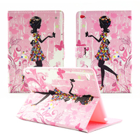 Bling Rhinestone Diamond Lovely Girl Pu Leather Magnetic Case Cover With Stand For Apple Ipad Air