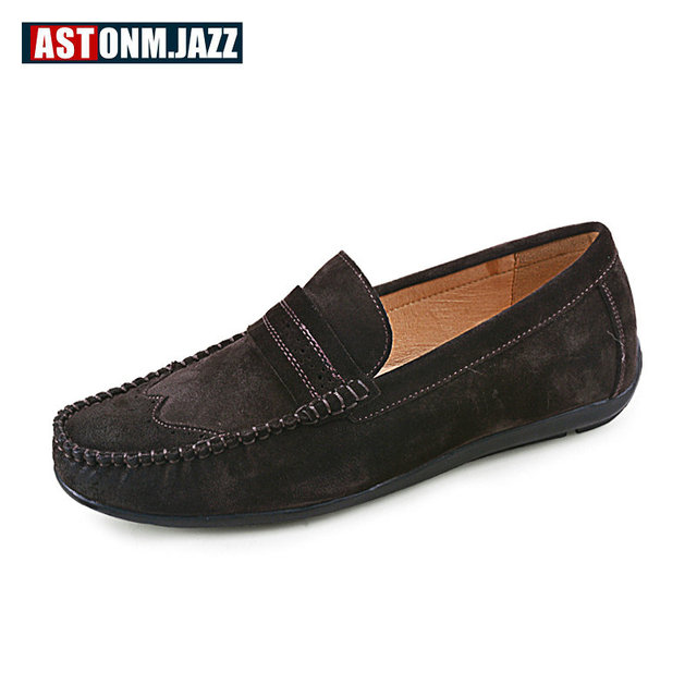 Men's Slip-on Leather Loafer Leisure Casual Shoe