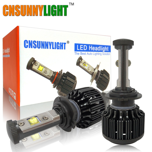 CNSUNNYLIGHT H7 Led High Power Bulb 60W 7200lm No Error 3000K 4300K 6000K Bright Car Headlight Fog Light Conversion Kit w/ EMC