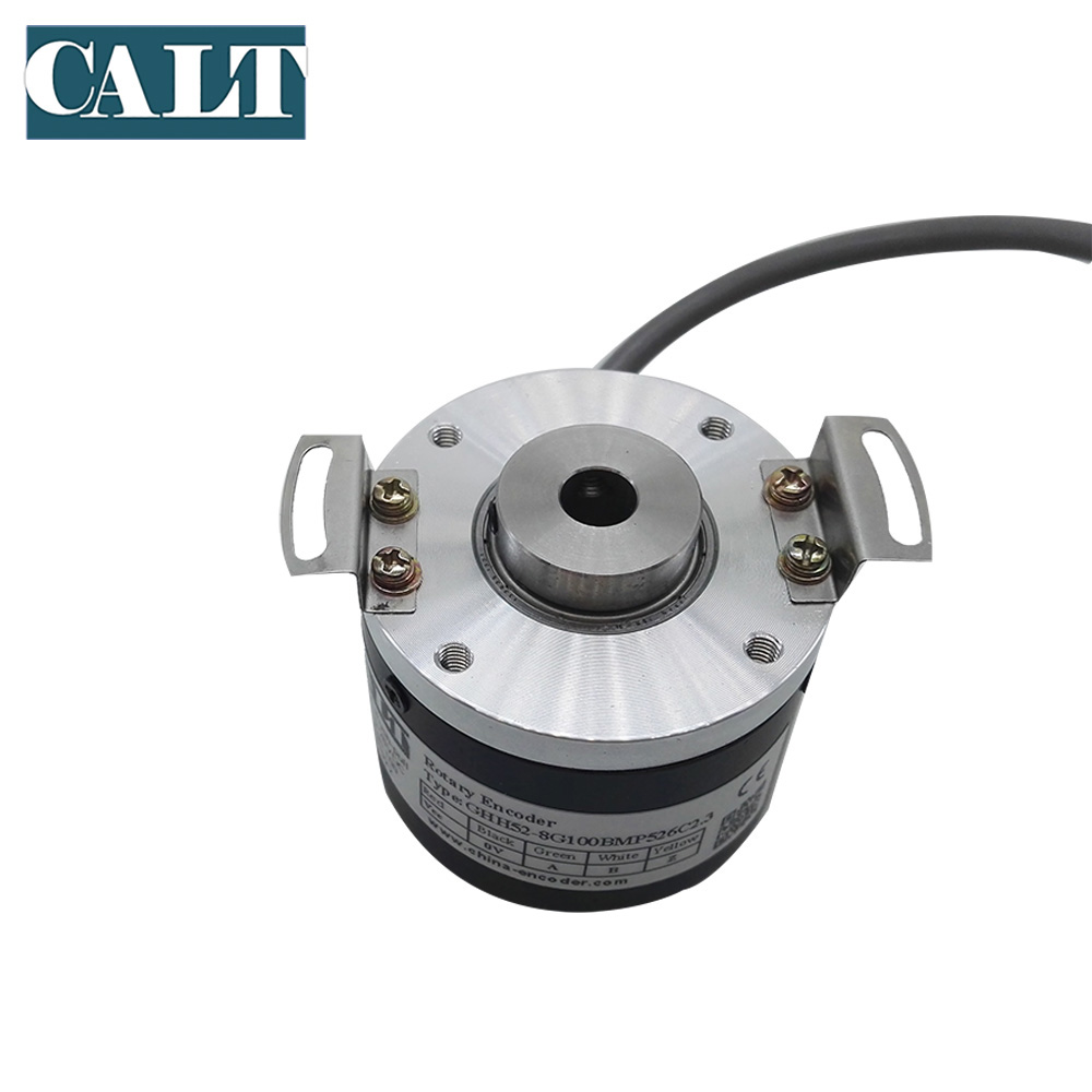 CALT Low Resolution 100 Pulse Hollow Shaft Incremental Optical Sensor Rotary Encoder Push pull output